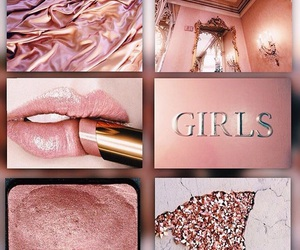 girls, gold, and rose image