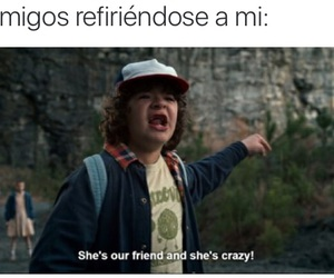 dustin, eleven, and stranger things image