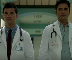 Taylor Lautner, john stamos, and scream queens image