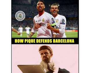 football, funny, and real madrid image