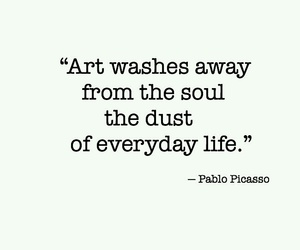 quotes, art, and Pablo Picasso image