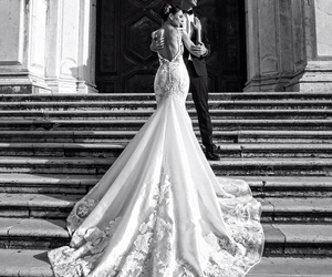 bride and groom, elegant, and style image