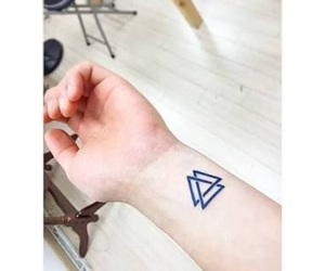 tattoo and triangle image