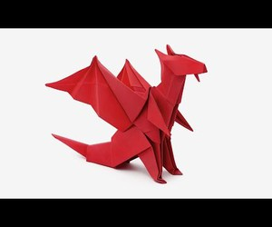 tutorial, video, and origami dragon image