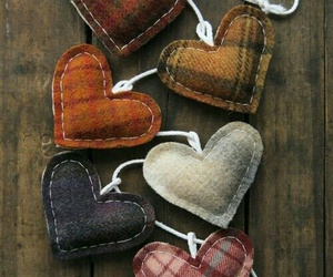hearts, autumn, and heart image