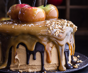 food, cake, and caramel image