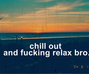 relax, text, and chill image