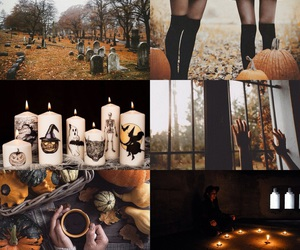 Halloween, autumn, and witch image