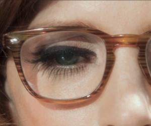 vintage, eyeliner, and glasses image