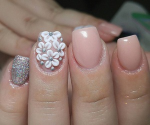 acrylic, nails, and flower image