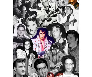 Elvis Presley and the king of rock n' roll image