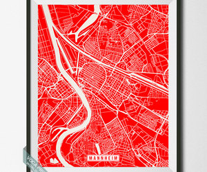 bedroom decor, etsy, and street map print image