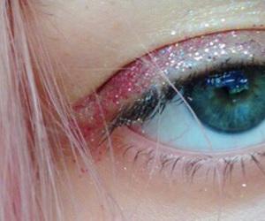 pink, eyes, and eye image