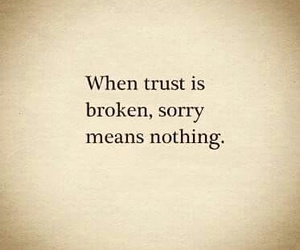 broken and sorry image