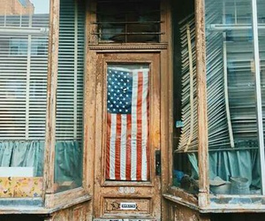 america, flag, and doors image