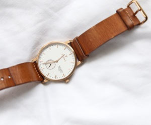 brown, leather, and watch image