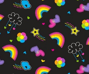 wallpaper, background, and rainbow image