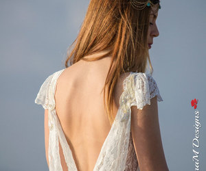etsy, open back dress, and lace wedding dress image