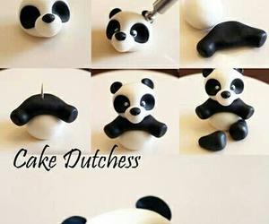 panda, diy, and cake image