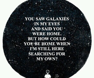 galaxy, alone, and black and white image