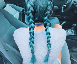 blue hair, love it, and so pretty image