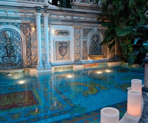 candles, pool, and detail image