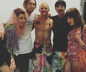 anthony kiedis, flea, and red hot chili peppers image