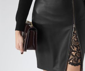fashion, skirt, and leather image
