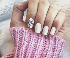 nails, unicorn, and white image