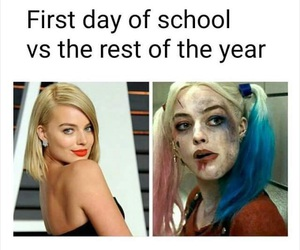 school and suicide squad image