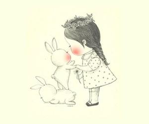rabbits, wallpaper, and cute image