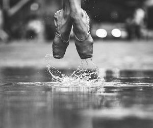 dance, ballet, and rain image