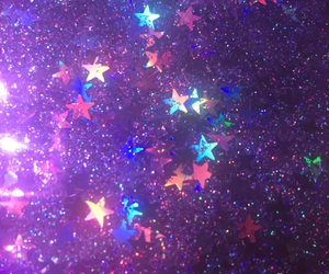 purple, sparkle, and stars image