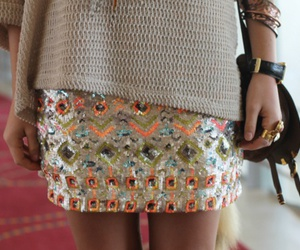 fashion, glitter, and skirt image