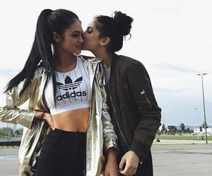 friends, friendship, and adidas image
