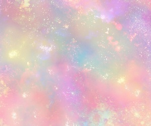 colorful, galaxy, and girly image