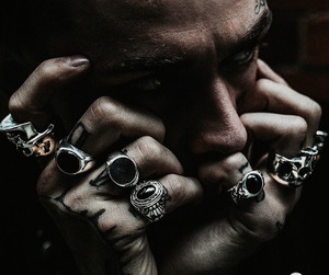 hands, man, and rings image