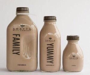 drink, beige, and milk image