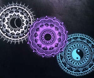 mandala, doodle, and draw image