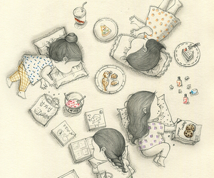 coniglio, girl, and ice cream image