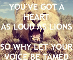 lion, quote, and heart image