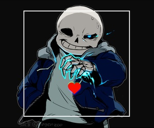 sans, genocide, and undertale image