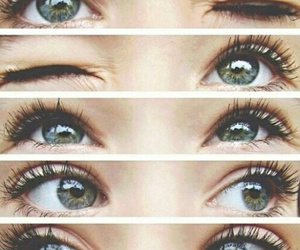 beautiful, eyes, and green image