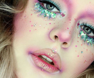 mermaid, glitter, and make up image