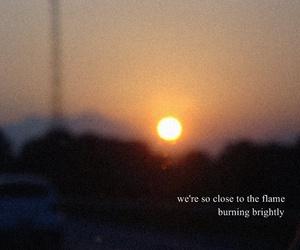 him, Lyrics, and sunset image