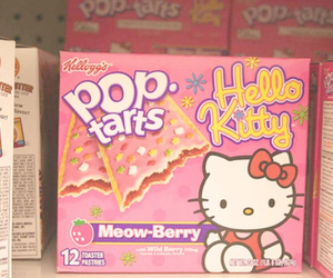 hello kitty, pop tarts, and food image