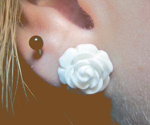 ear, earings, and flower image