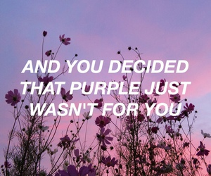 purple, halsey, and quotes image