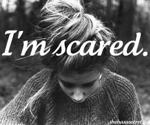scared, black and white, and text image
