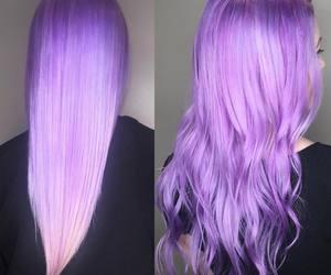 hair, purple hair, and purple haityles image